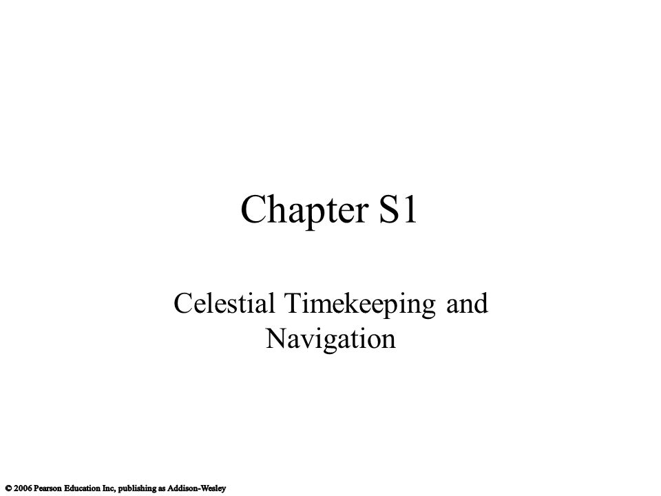 Celestial Timekeeping and Navigation