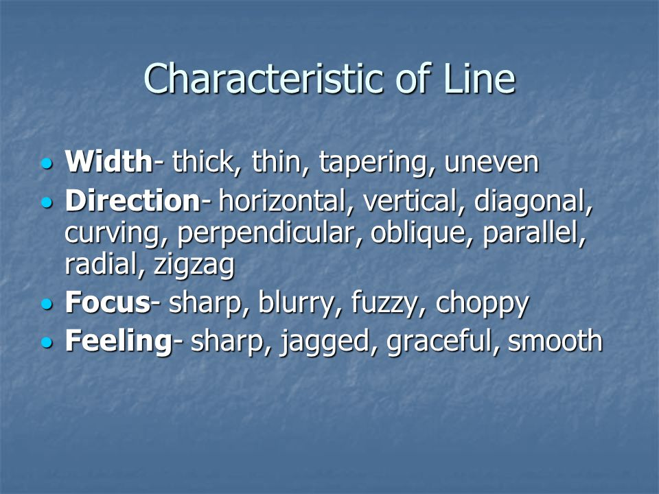 Characteristic of Line