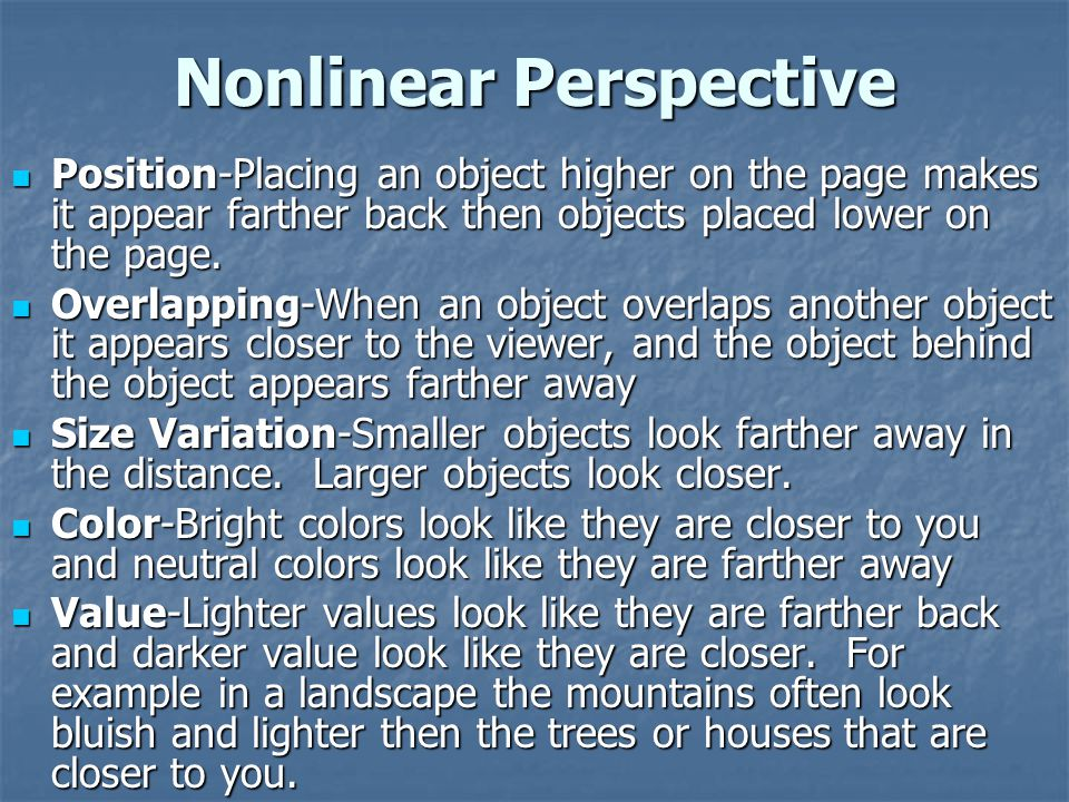 Nonlinear Perspective