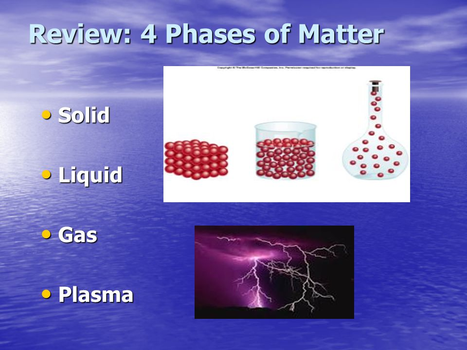 Review: 4 Phases of Matter