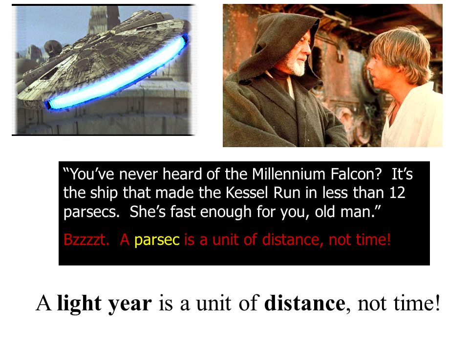 A light year is a unit of distance, not time!