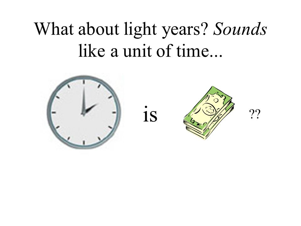 What about light years Sounds like a unit of time...