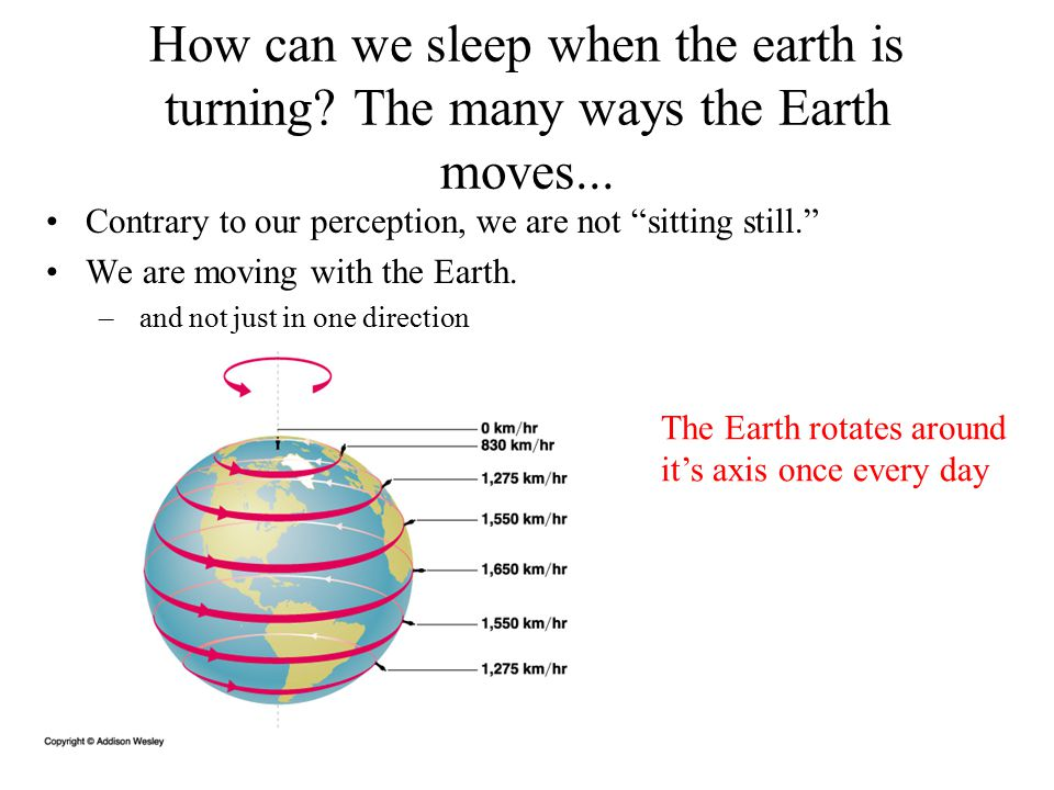 How can we sleep when the earth is turning