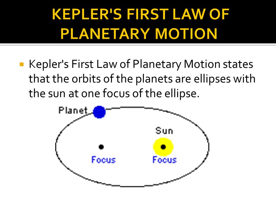 kepler's laws of planetary motion Universal gravitation is what governs and explains planetary motion.