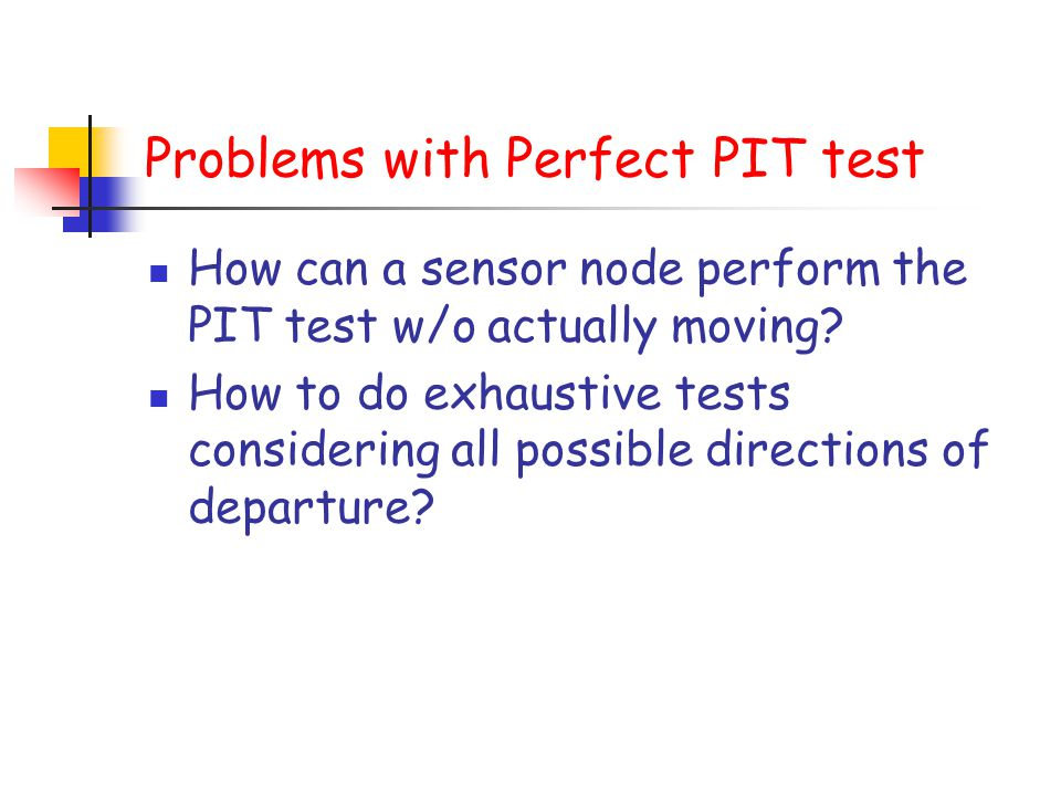 Problems with Perfect PIT test