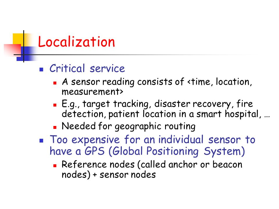 Localization Critical service