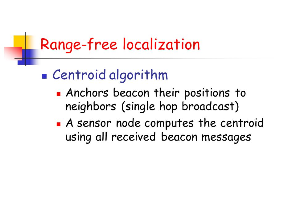 Range-free localization