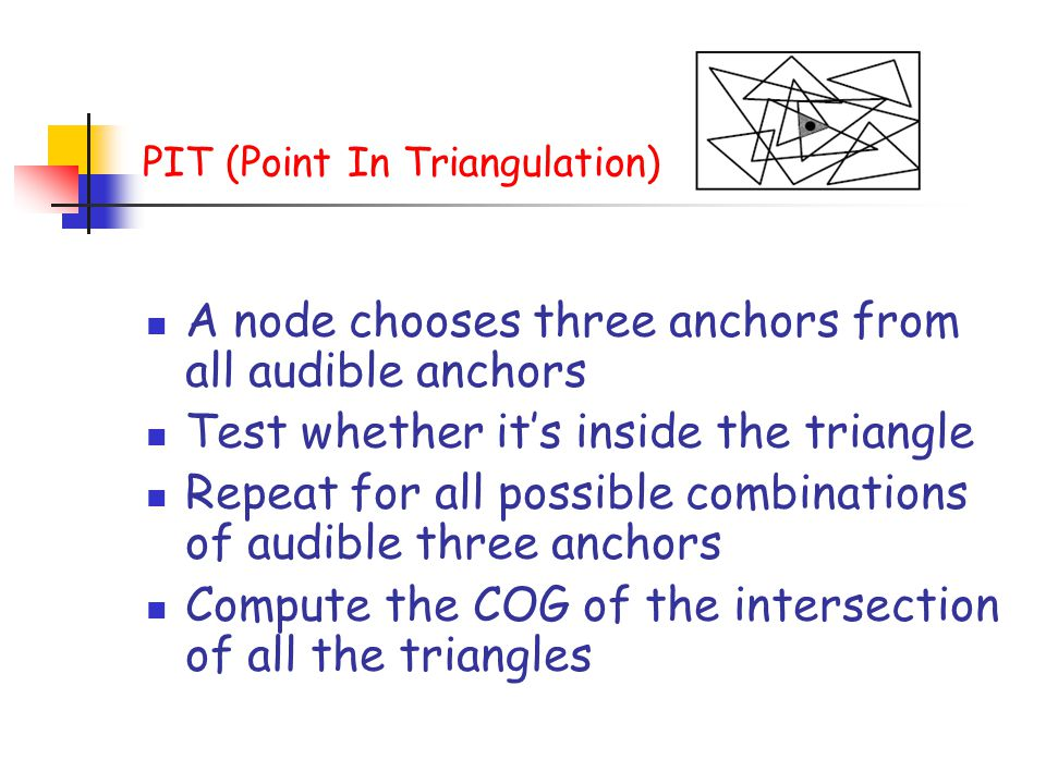 PIT (Point In Triangulation)