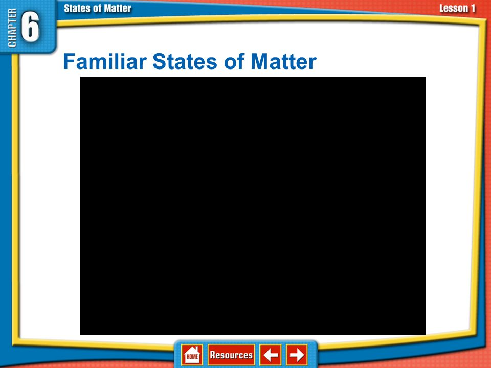 Familiar States of Matter