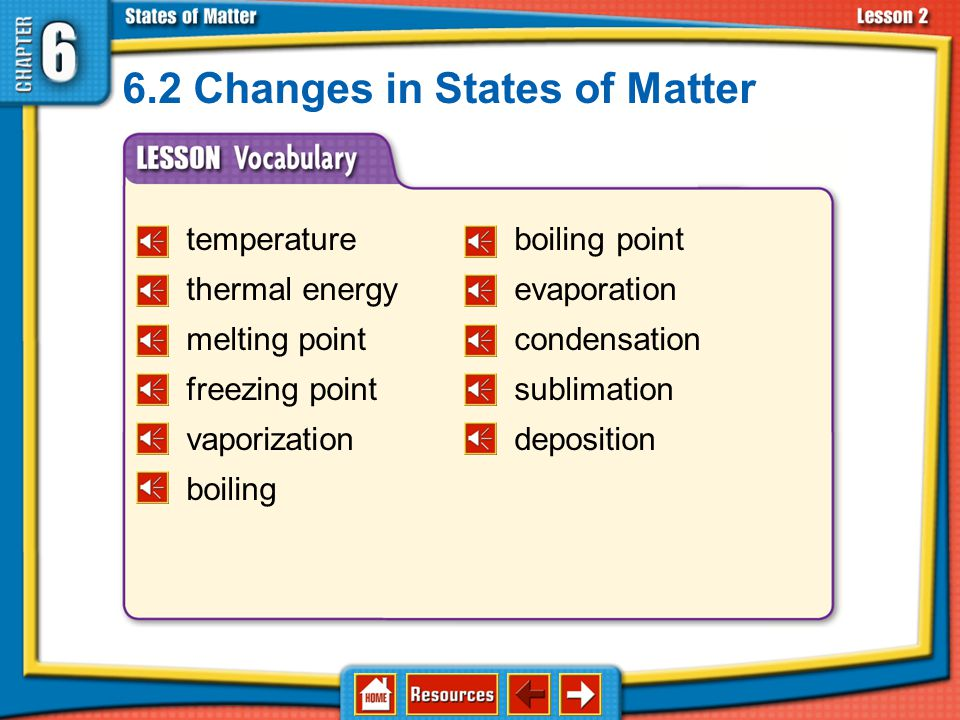 6.2 Changes in States of Matter
