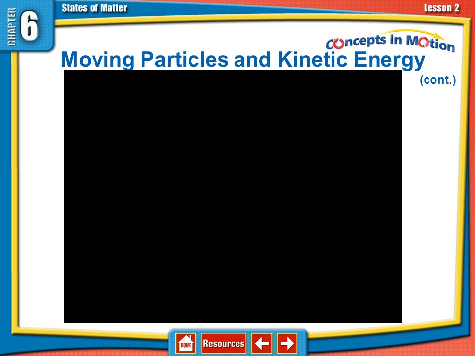 Moving Particles and Kinetic Energy