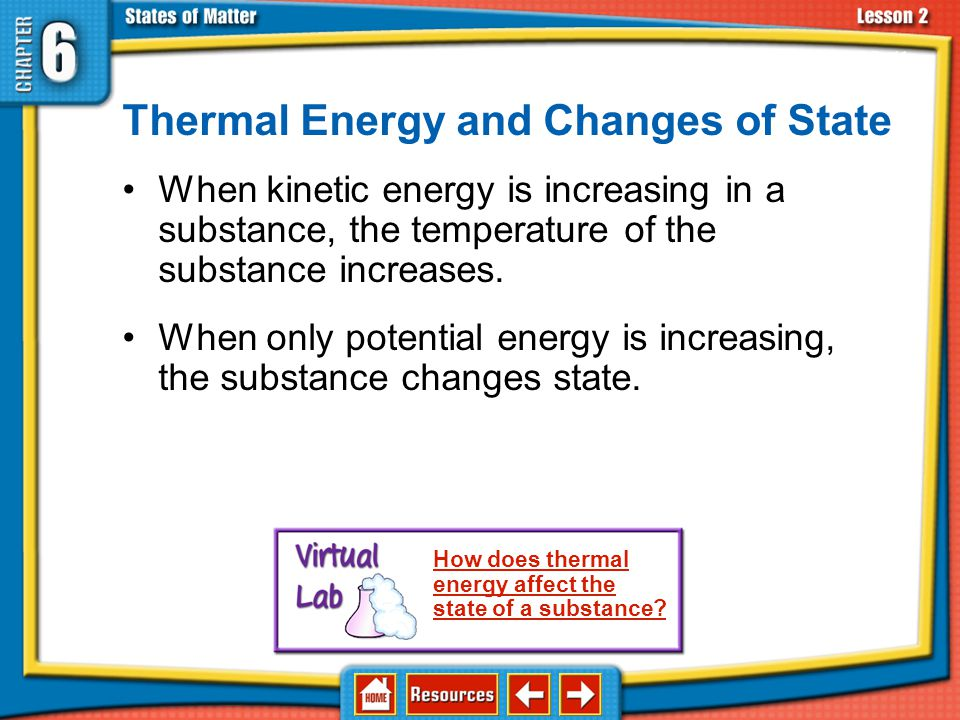 Thermal Energy and Changes of State
