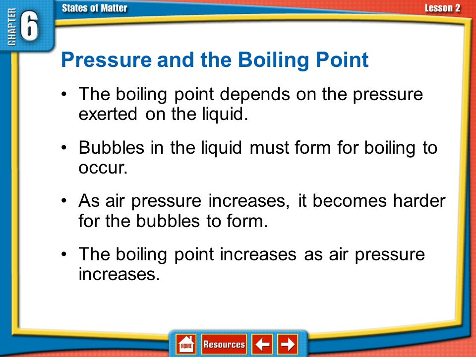 Pressure and the Boiling Point