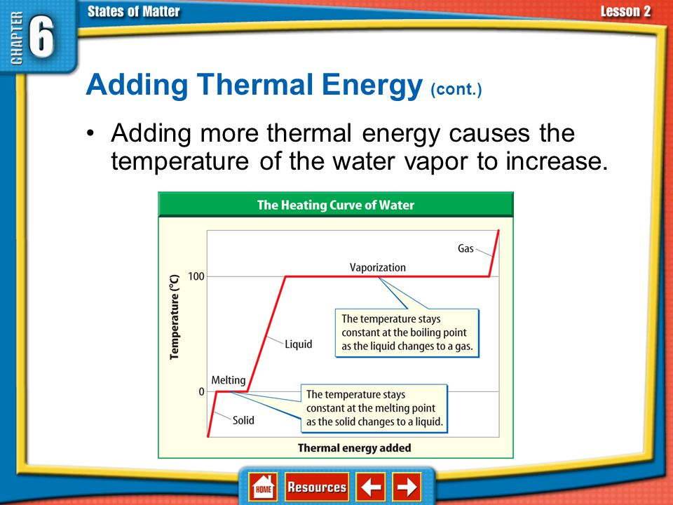 Adding Thermal Energy (cont.)