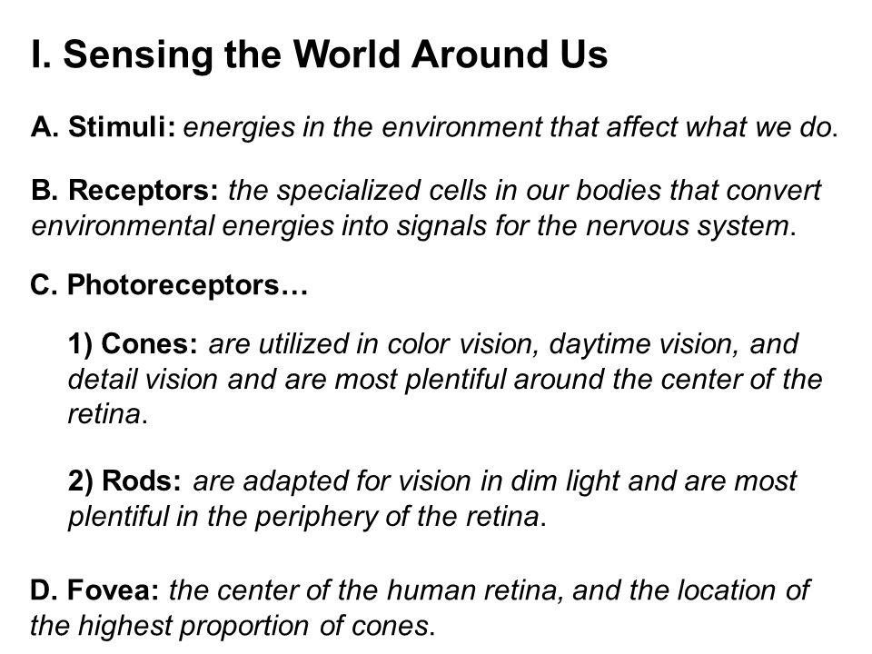 I. Sensing the World Around Us