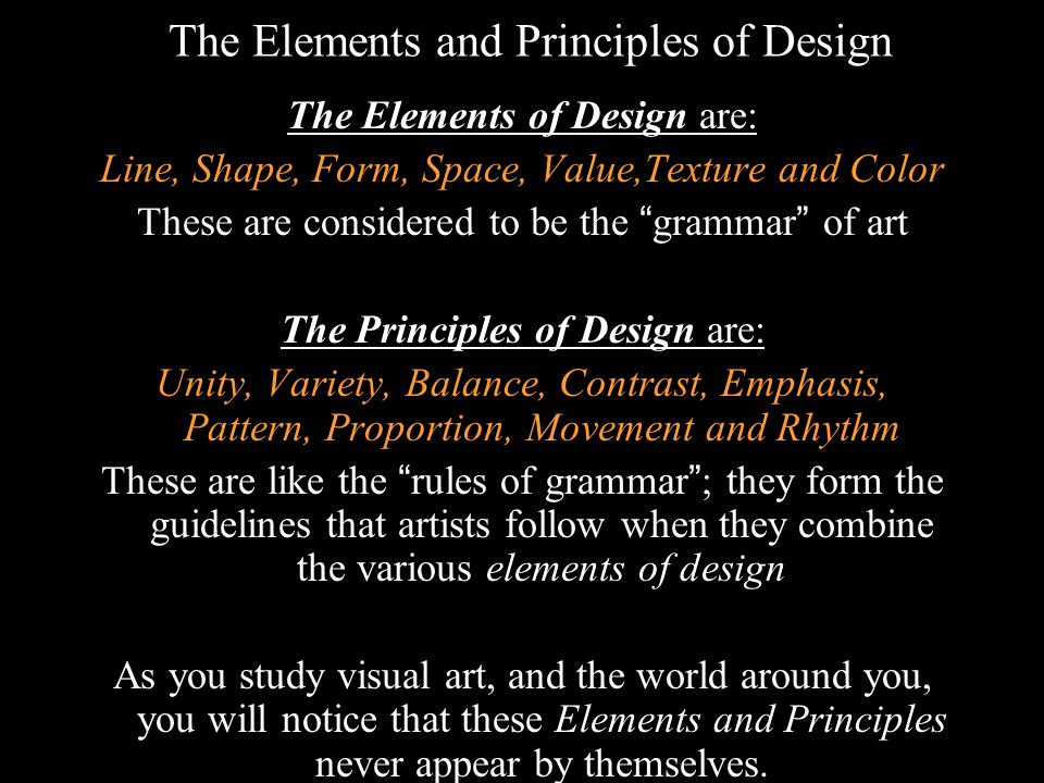 The Elements And Principles Of Design : Elements and principles of art ppt download