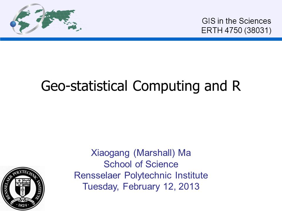Geo-statistical Computing and R