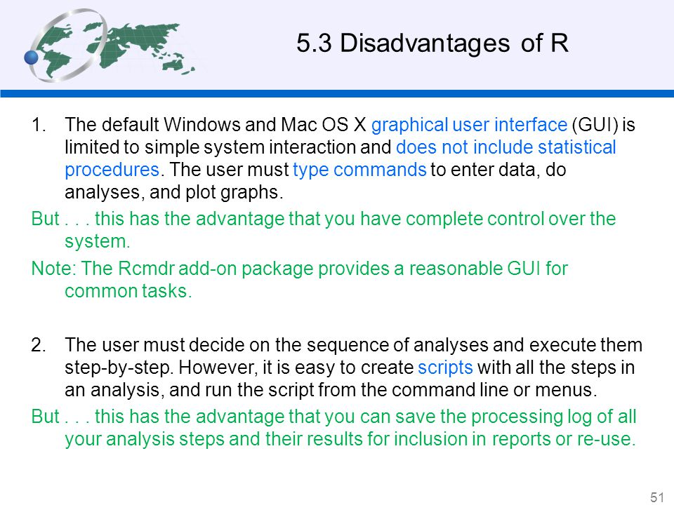 5.3 Disadvantages of R