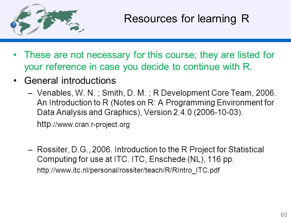Resources for learning R