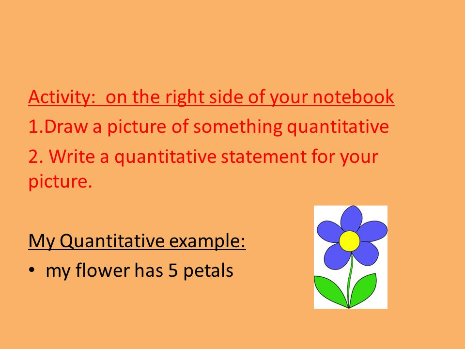 Activity: on the right side of your notebook