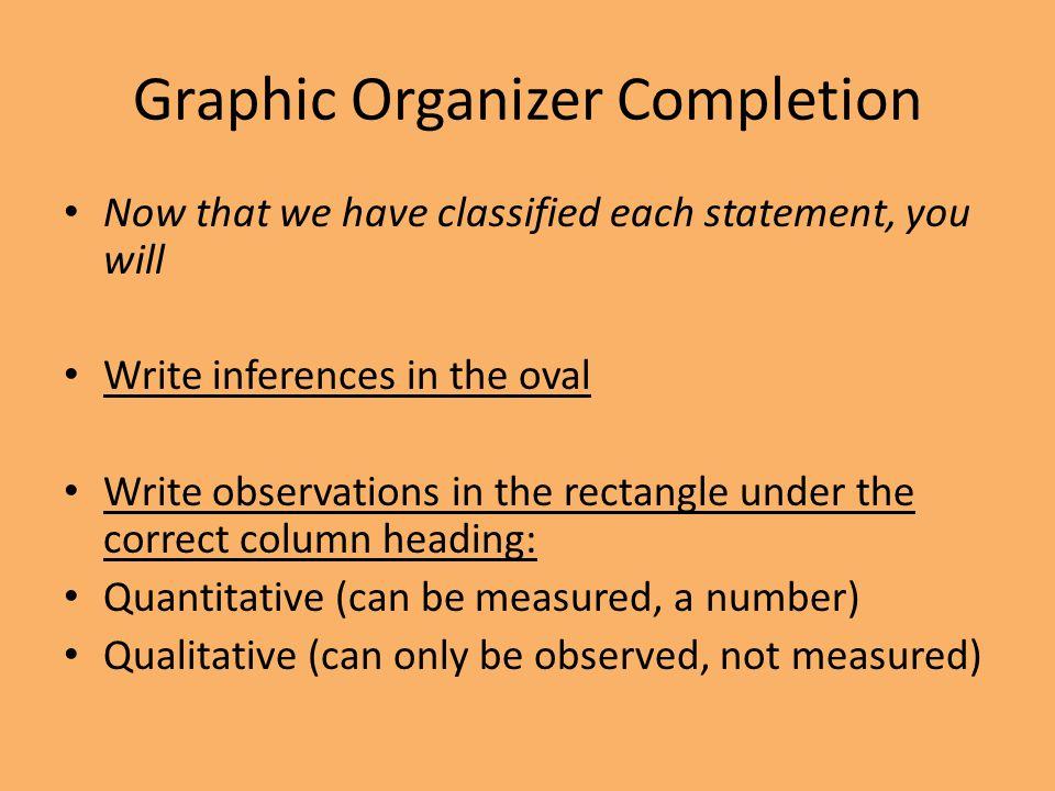 Graphic Organizer Completion