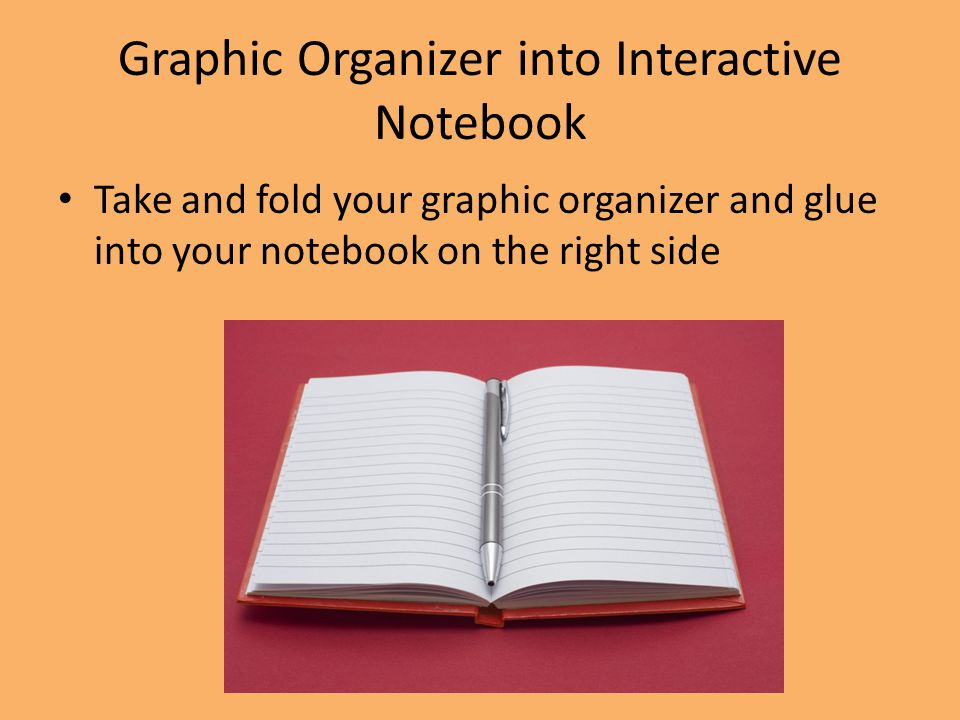 Graphic Organizer into Interactive Notebook