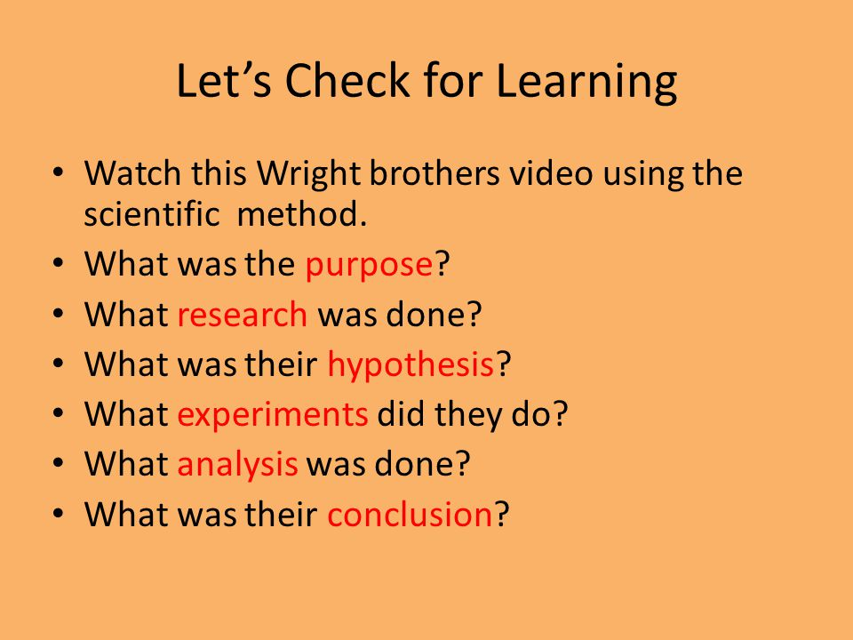 Let's Check for Learning