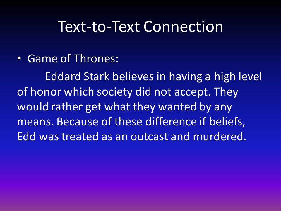 Text-to-Text Connection