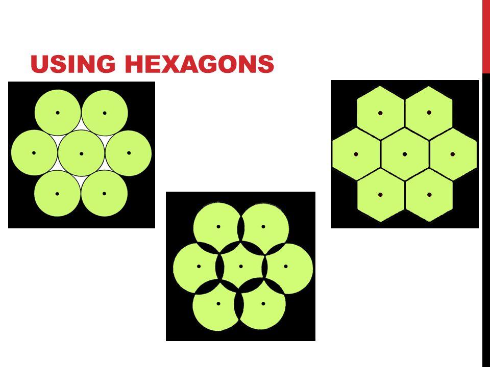 Using hexagons