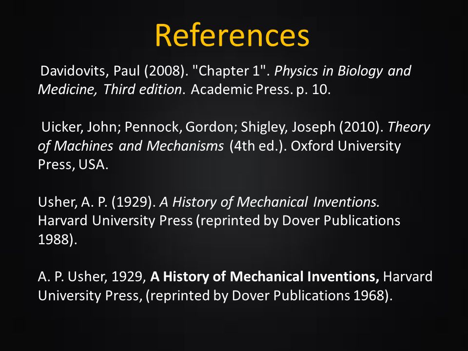 Clases of Lever References