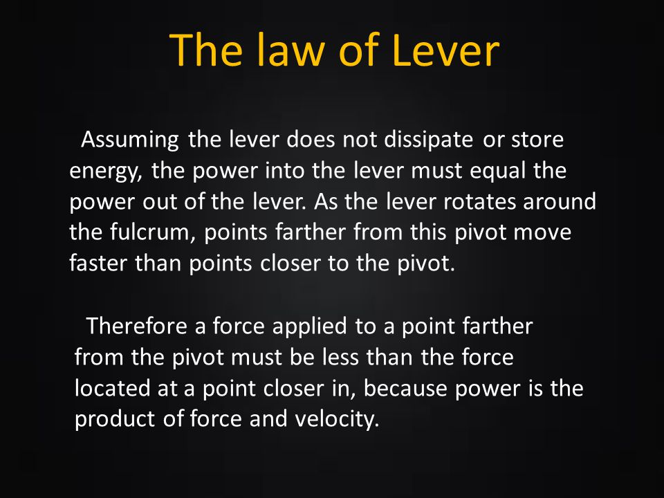 The law of Lever