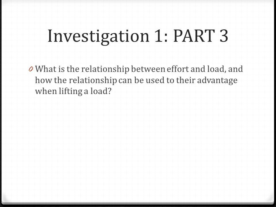 Investigation 1: PART 3