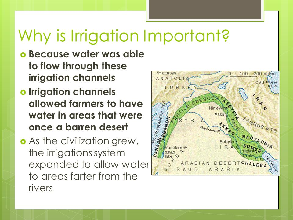 Why is Irrigation Important