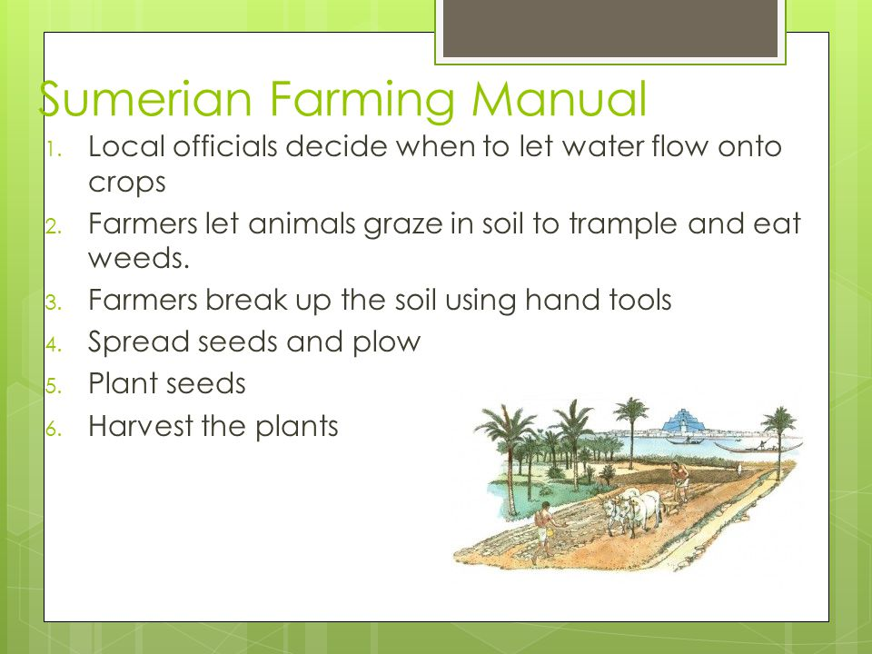 Sumerian Farming Manual