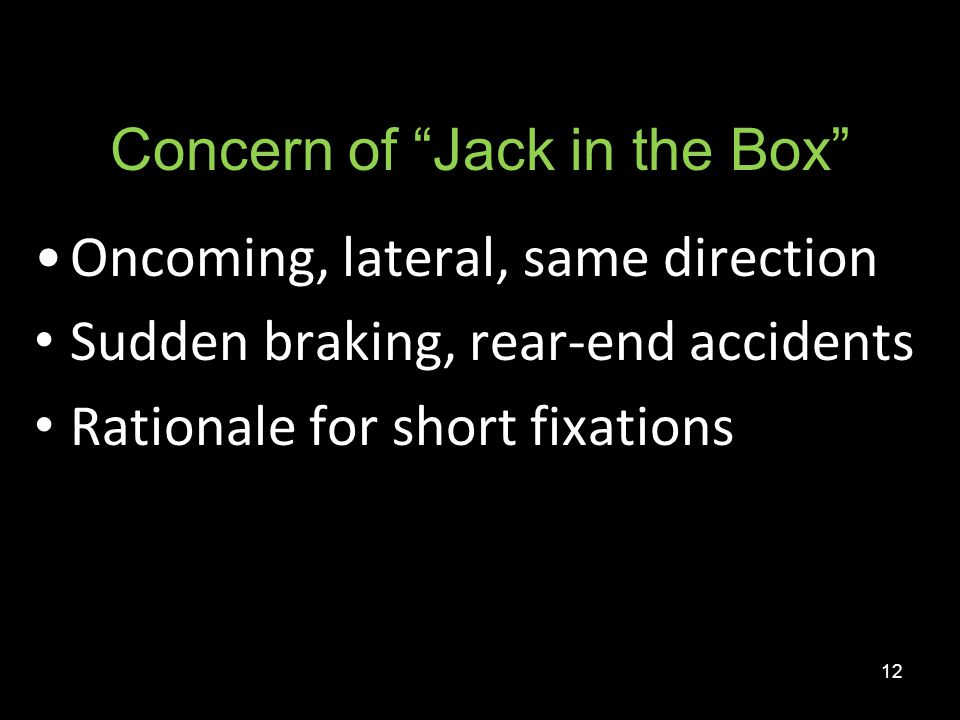 Concern of Jack in the Box