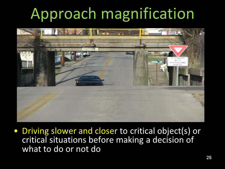 Approach magnification