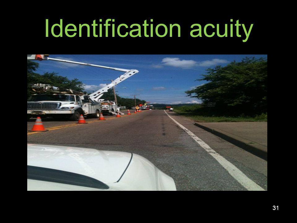 Identification acuity