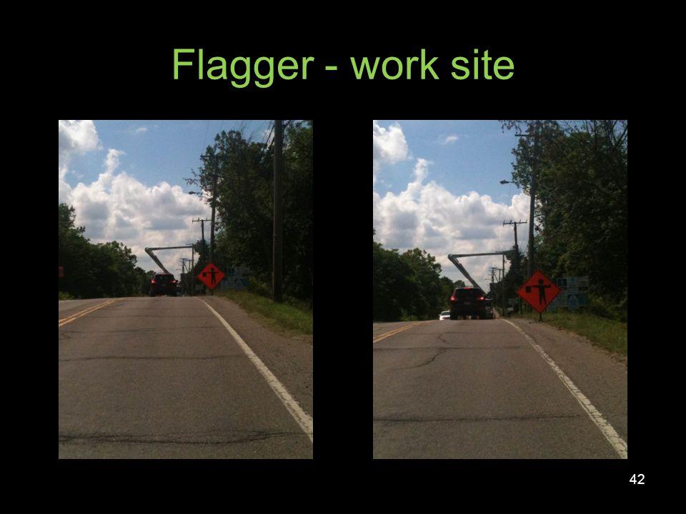 Flagger - work site