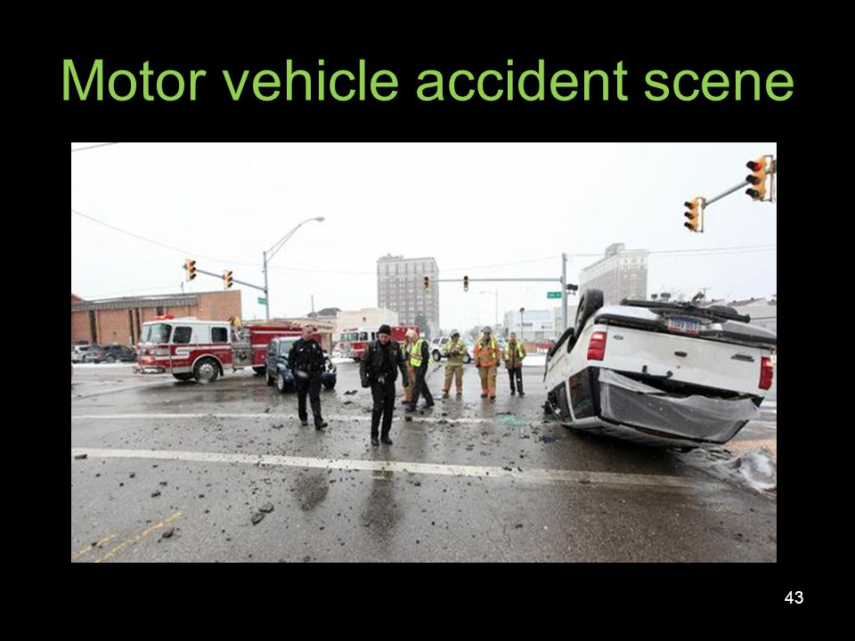 Motor vehicle accident scene