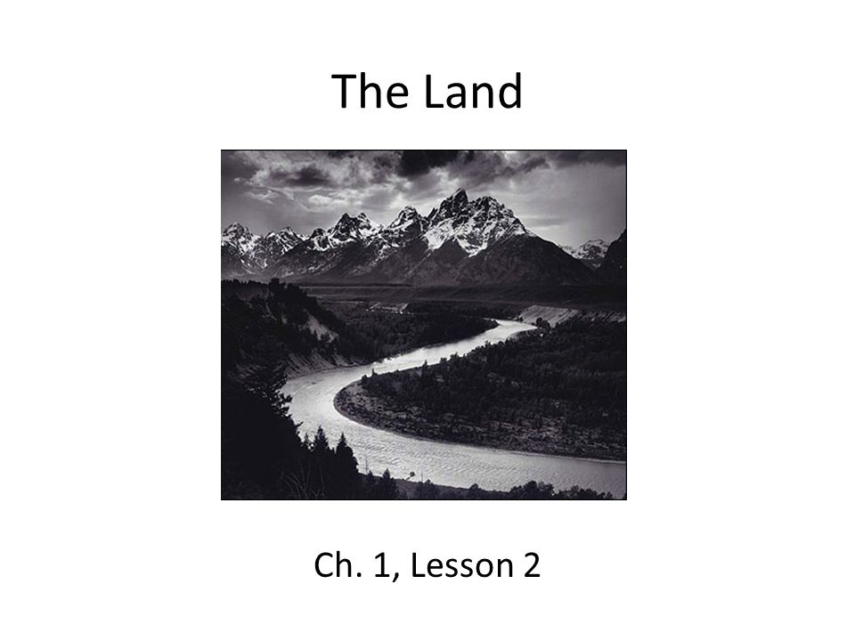 The Land Ch. 1, Lesson 2