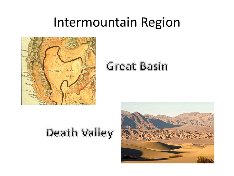 Intermountain Region Great Basin Death Valley