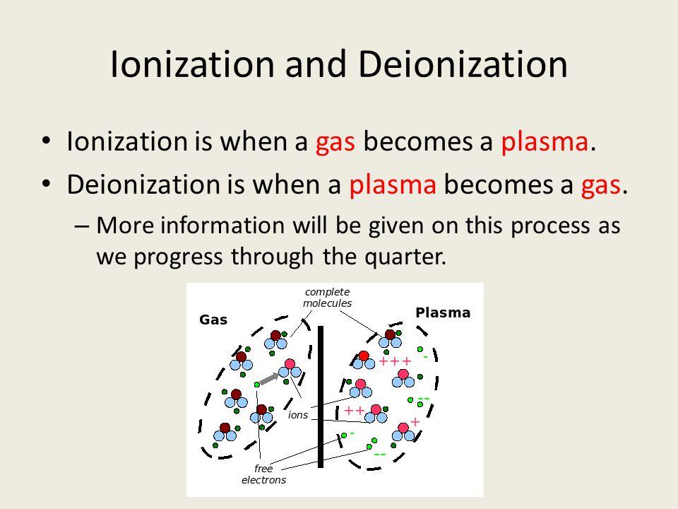 Ionization and Deionization