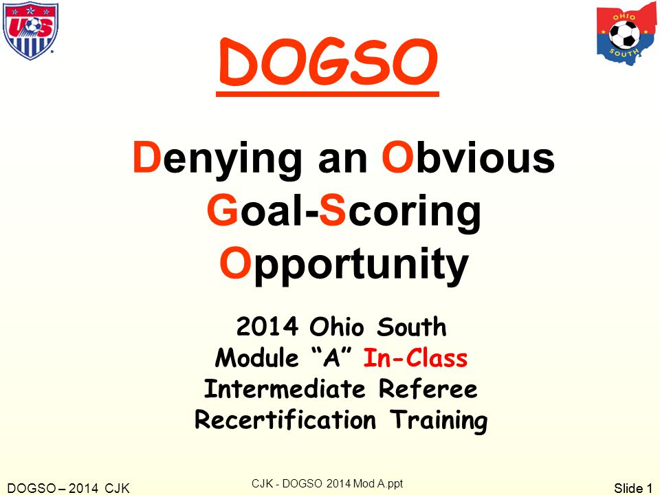 Denying an Obvious Goal-Scoring Opportunity Recertification Training