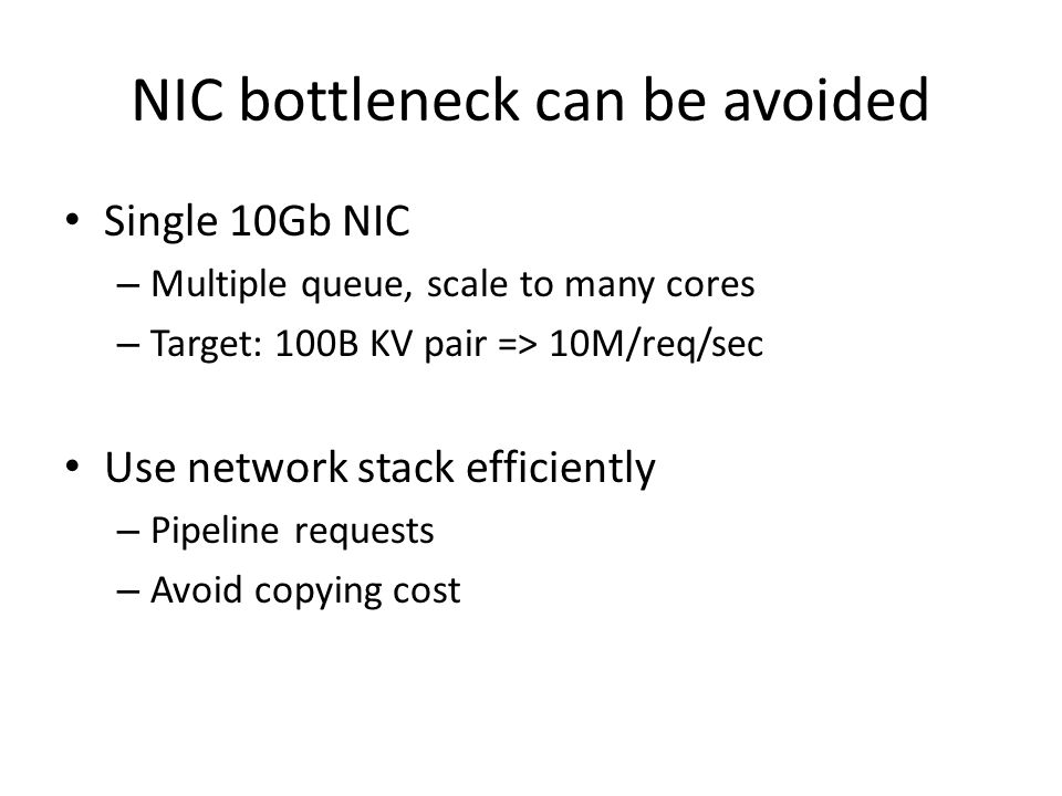 NIC bottleneck can be avoided