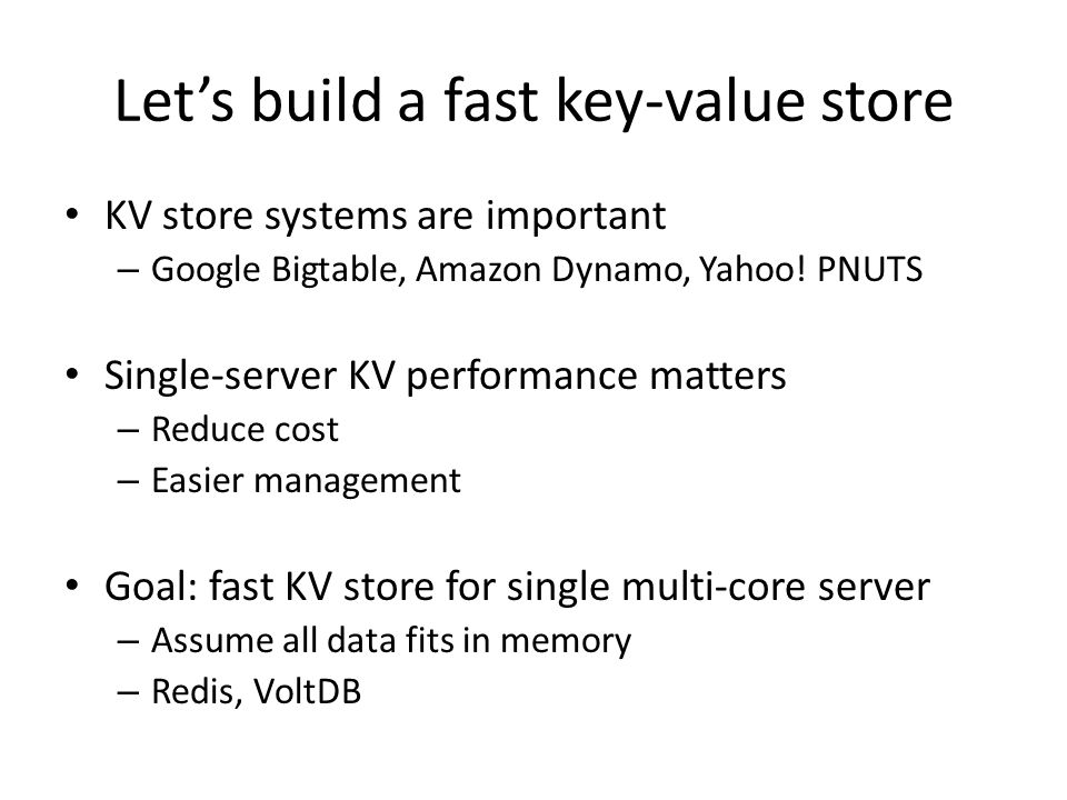 Let's build a fast key-value store