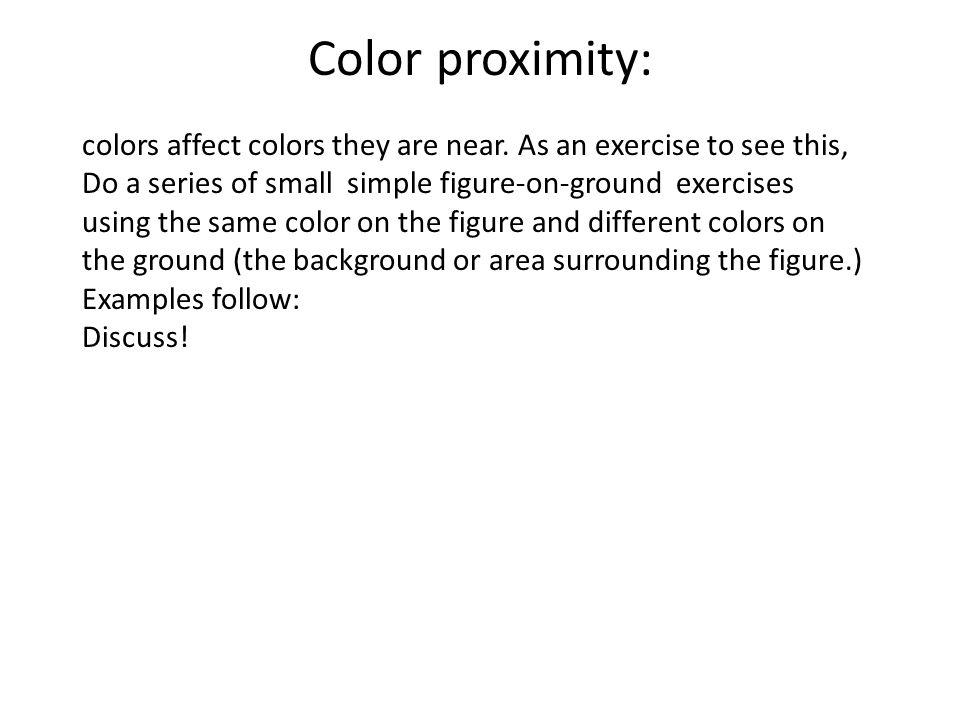 Color proximity: