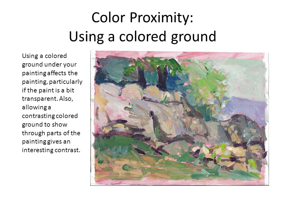 Color Proximity: Using a colored ground