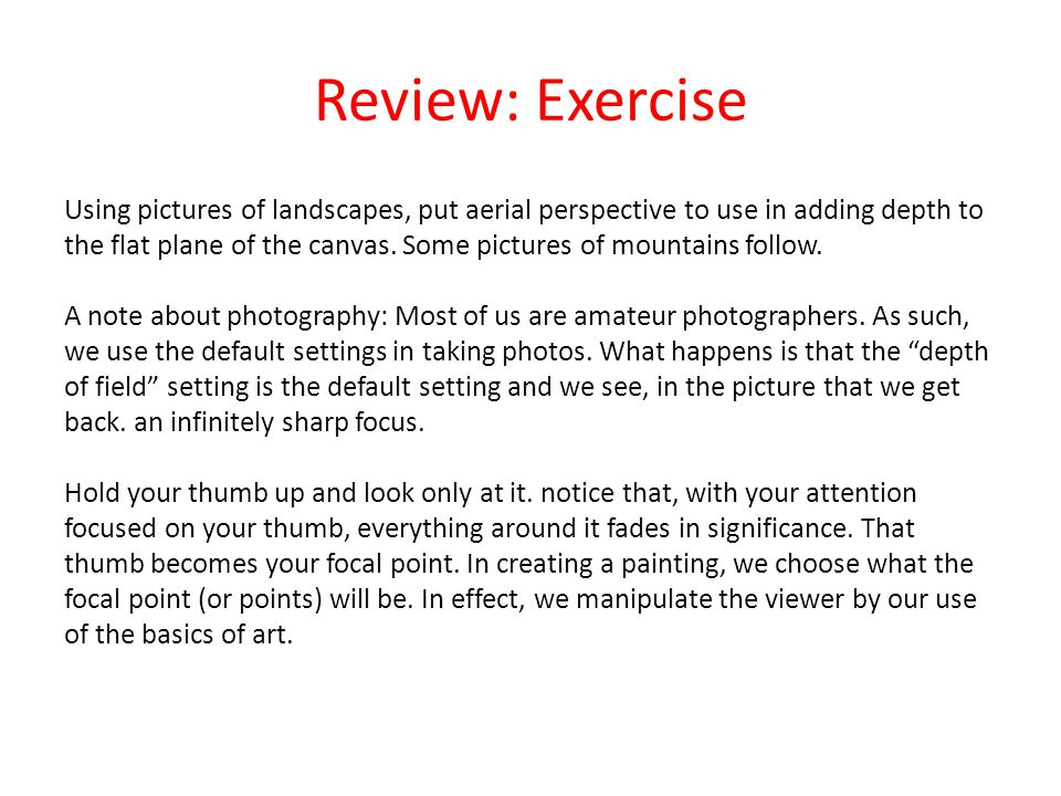 Review: Exercise