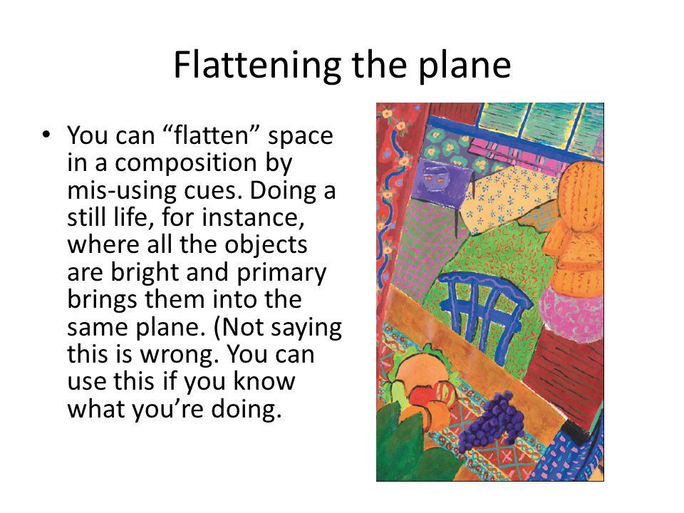 Flattening the plane