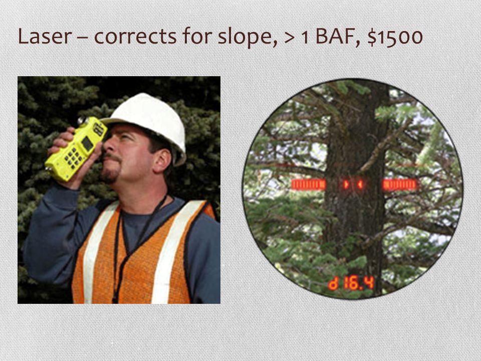 Laser – corrects for slope, > 1 BAF, $1500
